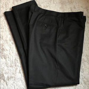 Hickey Freeman Wool Flat Front Dress Pants